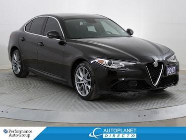 2017 Alfa Romeo Giulia AWD, Navi, Back Up Cam, Dual Pano Roof! Sedan