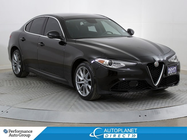 2017 Alfa Romeo Giulia AWD, Navi, Back Up Cam, Dual Pano Roof! Sedan