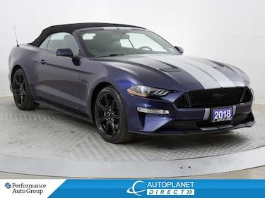 2018 Ford Mustang GT Premium, Convertible, Navi, Back Up Cam! Sedan