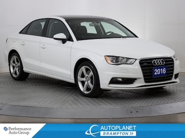 2016 Audi A3 Quattro, Komfort, Sunroof, Heated Seats! Sedan
