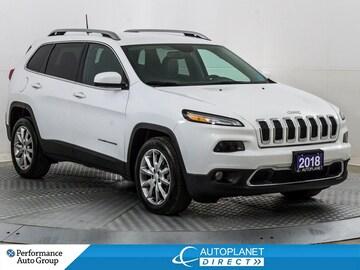 2018 Jeep Cherokee Limited 4x2, Luxury Grp, Navi, Back Up Cam! SUV