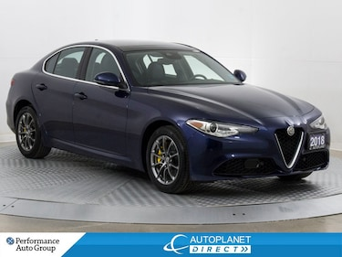 2018 Alfa Romeo Giulia AWD, 3d Navi, Dual Pane Sunroof, Back Up Cam! Sedan