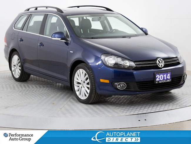 2014 Volkswagen Golf TDI, Wolfsburg Edition, Navi, Pano Roof, Leather! Wagon