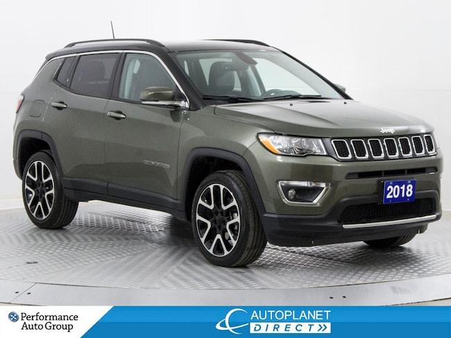 2018 Jeep Compass Limited 4x4, Navi, Remote Start, Apple CarPlay! SUV