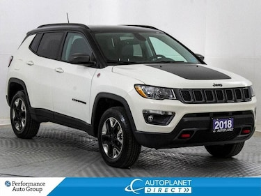 2018 Jeep Compass Trailhawk 4x4, Leather + Navi Group, Pano Roof! SUV