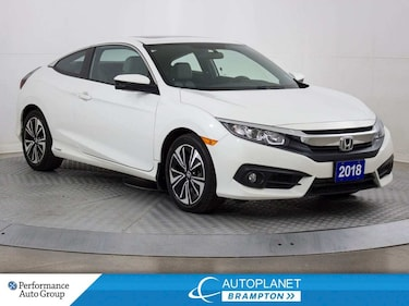 2018 Honda Civic EX-T, Turbo, Back Up Cam, Sunroof, Bluetooth! Coupe