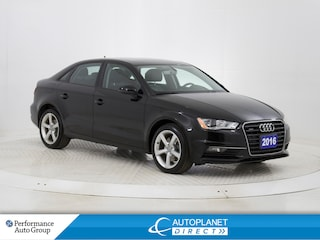 2016 Audi A3 2.0T Quattro, Komfort, Sunroof, Bluetooth! Sedan