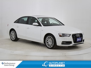 2015 Audi A4 2.0T Quattro, Komfort, Sunroof, Bluetooth! Sedan