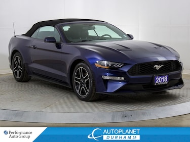 2018 Ford Mustang EcoBoost Premium, Convertible, Navi, Back Up Cam! Convertible