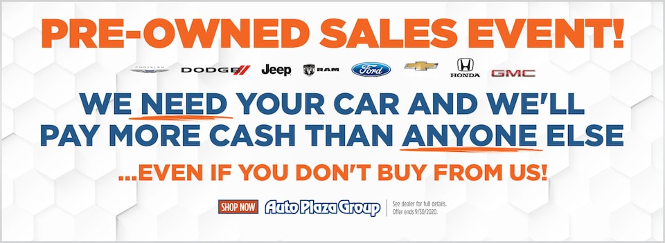 Pre-Owned Sales Event!