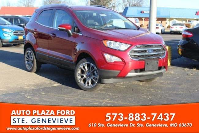 New 2019 Ford EcoSport Titanium SUV For Sale/Lease Genevieve, MO