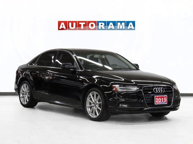 Pre-Owned 2015 Audi A4 Progessive Pkg Navigation Leather Sunroof Sedan in Toronto