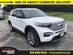 New 2020 Ford Explorer Platinum SUV in Comstock, NY