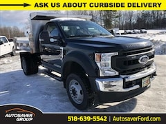 New 2020 Ford F-550 Chassis XL w/ Rugby 3-4 Yard Stainless Steel Dump Body Commercial-truck in Comstock, NY