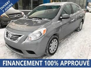 2012 Nissan Versa 1.6 SV**40$/SEM*FINANCEMENT 100% APPROUVÉ** Berline