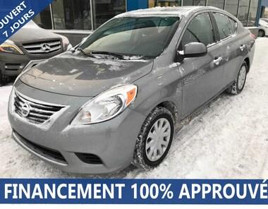 2012 Nissan Versa 1.6 SV**40$/SEM*FINANCEMENT 100% APPROUVÉ** Sedan