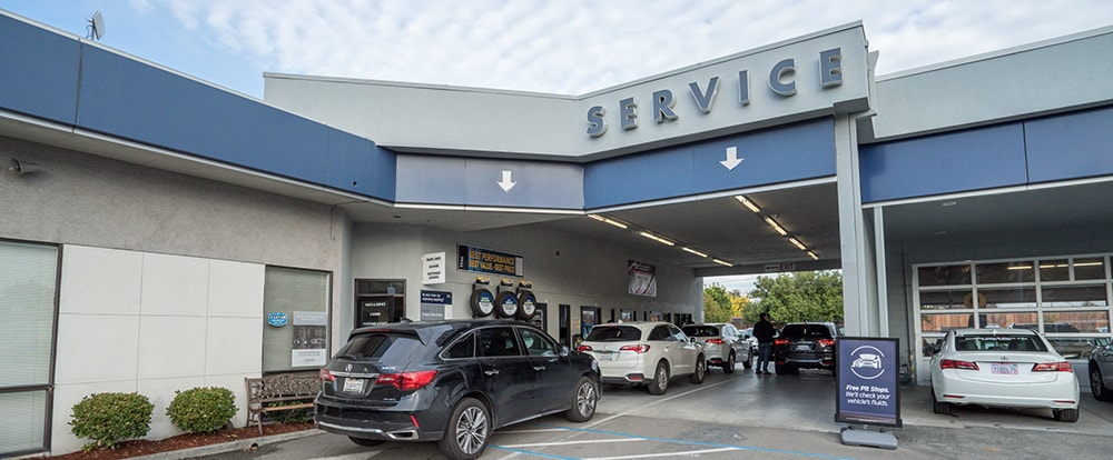 Exterior of AutoNation Acura Stevens Creek Service Center