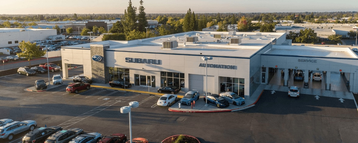 Aerial view of AutoNation Subaru Roseville