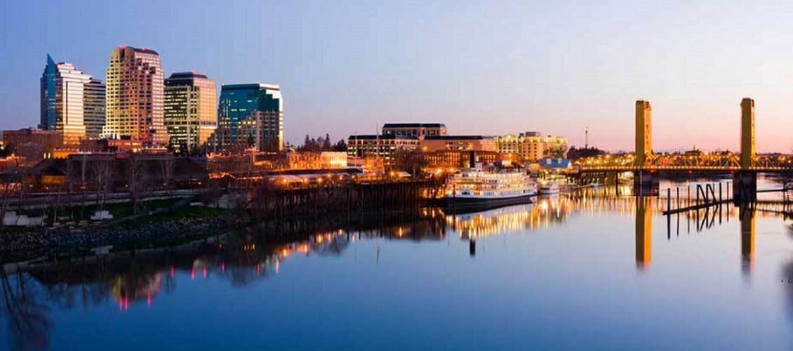 Scenic view of Sacramento, CA