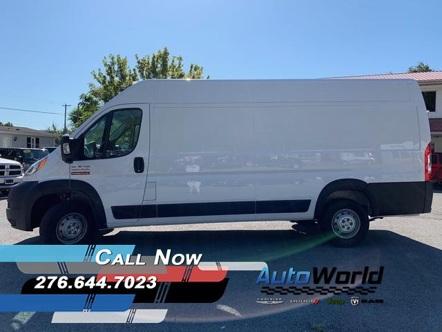 Featured New 2019 Ram ProMaster 3500 CARGO VAN HIGH ROOF 159 WB EXT Extended Cargo Van for Sale in Big Stone Gap, VA