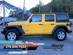 2020 Jeep Wrangler UNLIMITED SPORT S 4X4 Sport Utility For Sale in Big Stone Gap, VA  | Auto World Chrysler Dodge Jeep