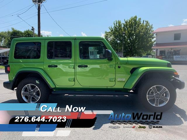 Featured New 2018 Jeep Wrangler UNLIMITED SAHARA 4X4 Sport Utility for Sale in Big Stone Gap, VA