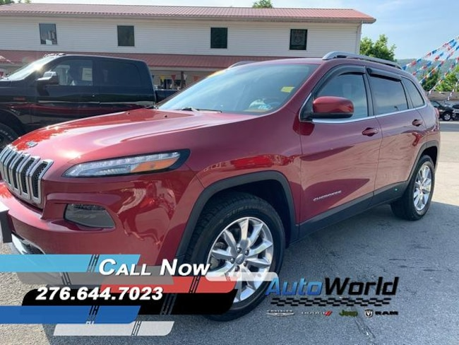 Used 2015 Jeep Cherokee Limited 4x4 SUV in Harlan, KY