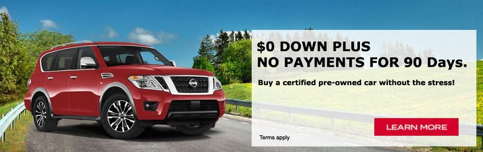 $0 Down Plus No Payments for 90 Days