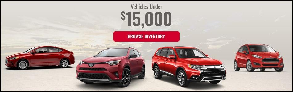 Vehicles Under $15,000