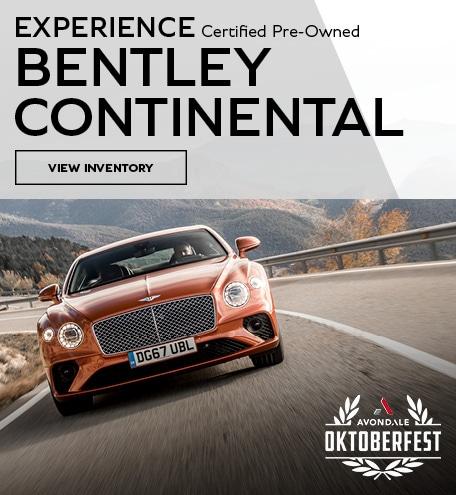 Experience Bentley Continental CPO