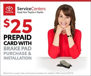 $25 Prepaid Card With Brake Pad Purchase and Installation
