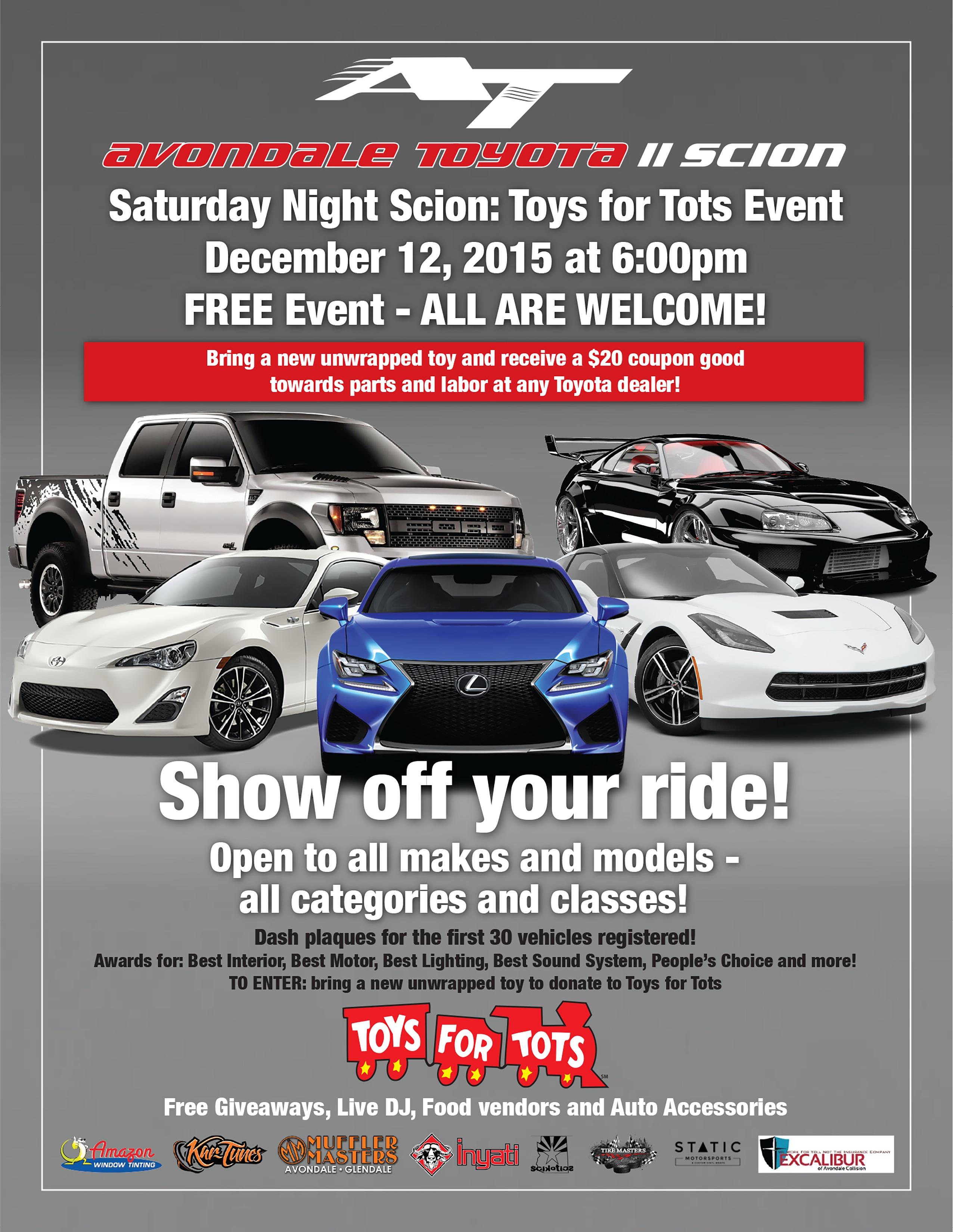 Saturday Night Scion Avondale Toyota Hosts Saturday Night Scion A - Fun car show award categories
