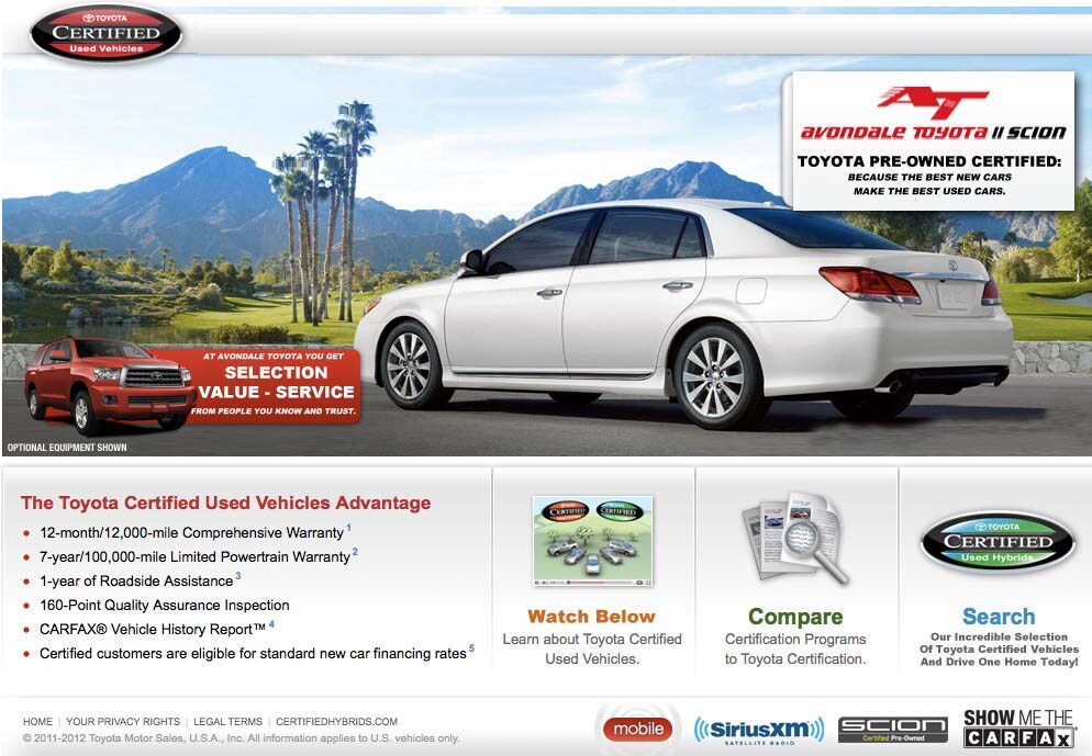 Why Buy a Certified Pre-Owned Toyota in Avondale