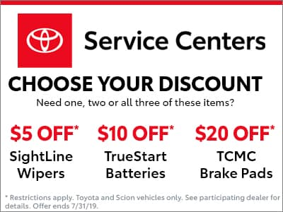 Toyota Service Coupons >> Service Specials Avondale Toyota