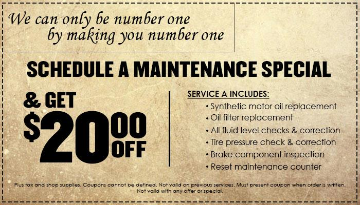 Schedule A Maintenance