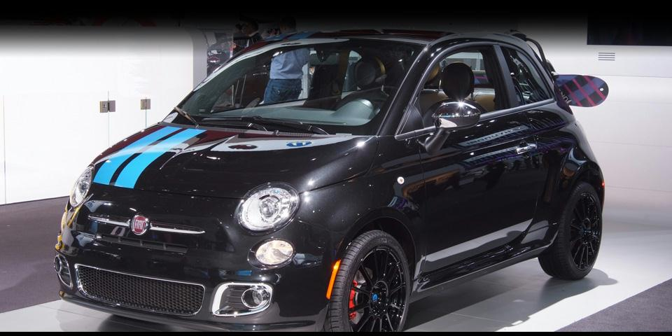 The 2012 FIAT 500 at the Auto Show