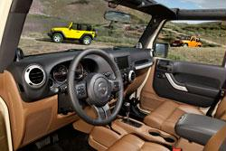 2011 Jeep Wrangler brown interior