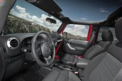 2011 Jeep Wrangler grey interior