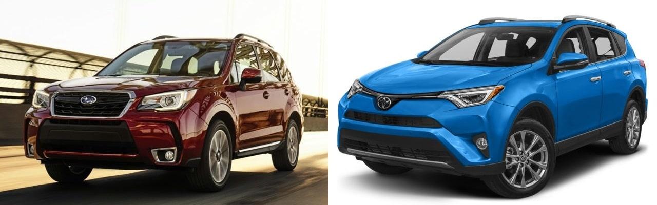 Compare The 2017 Subaru Forester vs The 2017 Toyota RAV4 at
