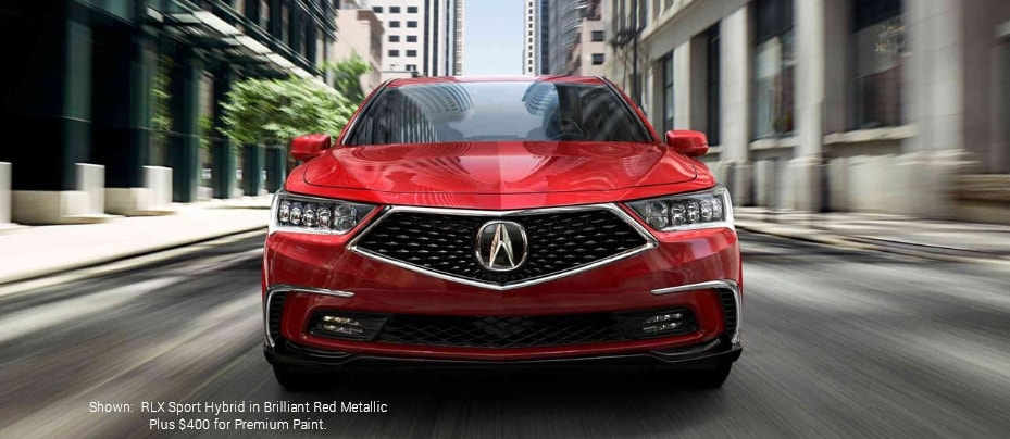 Shown:RLX Sport Hybrid in Brilliant Red Metallic