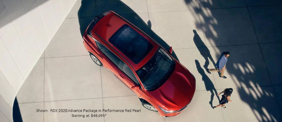 Shown:  RDX 2020 Advance Package in Performance Red Pearl Starting at $45,900