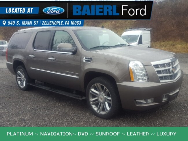 Used 2013 Cadillac Escalade ESV Platinum Edition SUV For Sale in Zelienople, PA