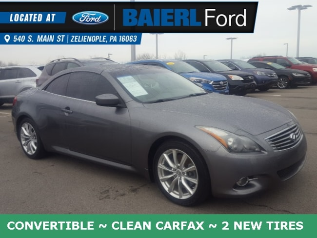 Used 2012 INFINITI G37 Base Convertible For Sale in Zelienople, PA