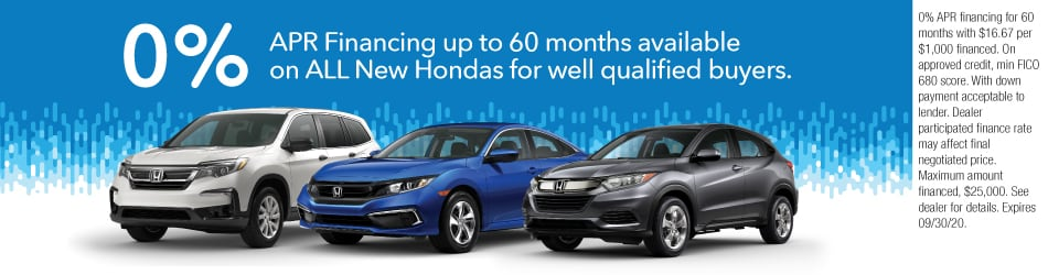 0% APR for up to 60 Months