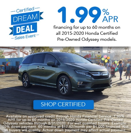 1.99% APR for up to 60 months on select models