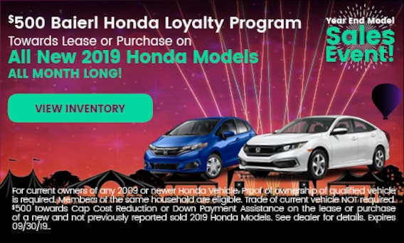 Owners Honda Com >> Honda Dealer Wexford Pa Baierl Honda Serving Pittsburgh Pa