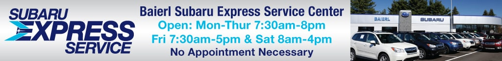 Baierl Subaru Express Service Center, No Appointment Needed!