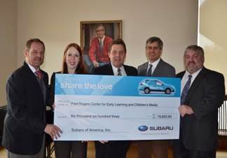 Fred Rogers Center Donation Baierl Subaru