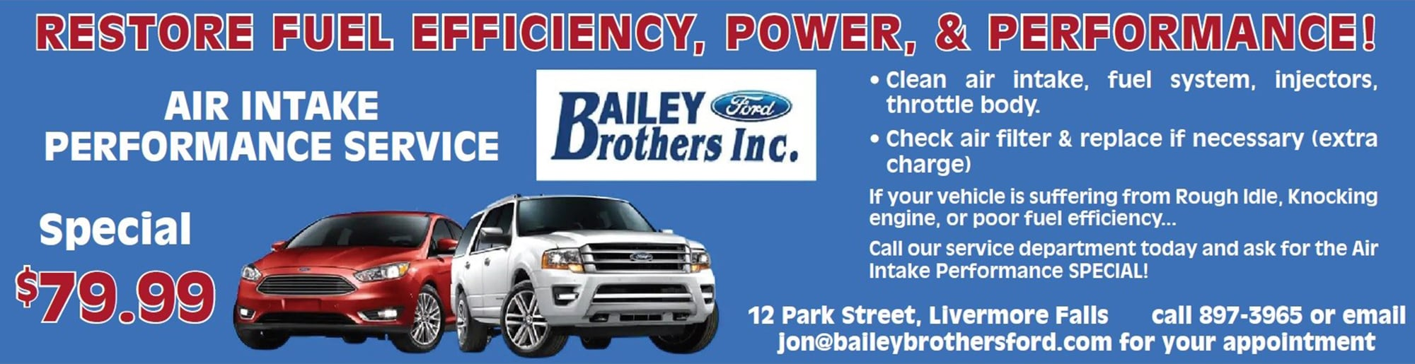 New Ford and Used Car Dealer Serving Livermore Falls | Bailey Brothers