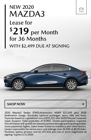 January 2020 Mazda3 Special
